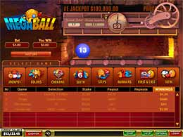 Megaball bingo slots from playtech